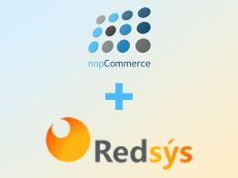 logos de redsys y nopcommerce
